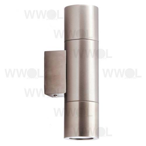 2 X 35 WATT HALOGEN UP DOWN 304 STAINLESS STEEL EXTERIOR LIGHT