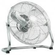 40CM CHROME HIGH VELOCITY FLOOR WALL FAN