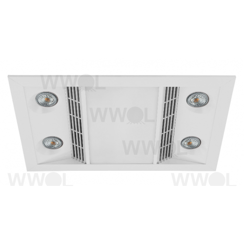 INFERNO MATT WHITE HEAT LED LIGHT EXHAUST COMBO