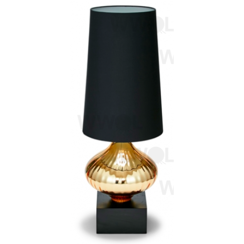 Gold With Black Lamp Shade 82cm Table Lamp