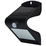 200 LUMEN LED SOLAR SENSOR EXTERIOR WALL LIGHT BLACK