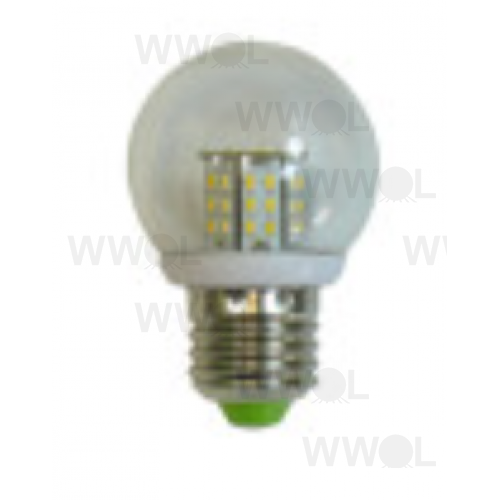 3W LED 10-30V AC/DC E27 FANCY ROUND COOL WHITE