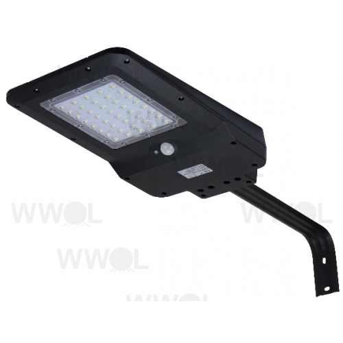 15 WATT 1600 LUMEN SOLAR LED SENSOR STREET/AREA LIGHT POLY CARBONATE BLACK (HEAD ONLY)