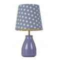 POLKA DOT PURPLE/WHITE TABLE LAMP
