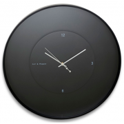 ZONE 30CM BLACK ROUND FLOATING CLOCK