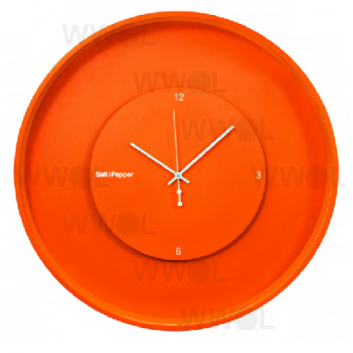 ZONE 30CM LIGHT ORANGE ROUND FLOATING CLOCK