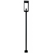 LONDON SMALL MATT BLACK EXTERIOR BOLLARD