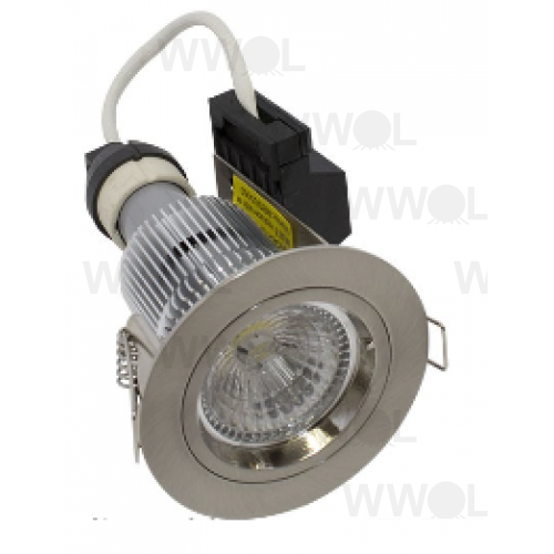 LUMEN 9W FIXED LED BRUSHED CHROME WARM WHITE