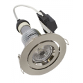 LUMEN 9W GIMBAL LED BRUSHED CHROME NATURAL WHITE