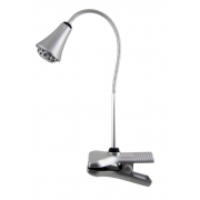 LUX CLAMP 3 WATT LED DESK LAMP SILVER