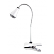 LUX CLAMP 3 WATT LED DESK LAMP WHITE