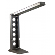 LUX FOLD 7 WATT LED DESK LAMP SILVER