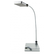 LUX RECHARGE 3 WATT LED DESK LAMP SILVER