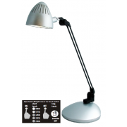 LUX TASK 5.4 WATT LED DESK LAMP SILVER