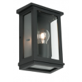 FLUSH COACH LARGE EXTERIOR WALL LIGHT TEXTURED BLACK