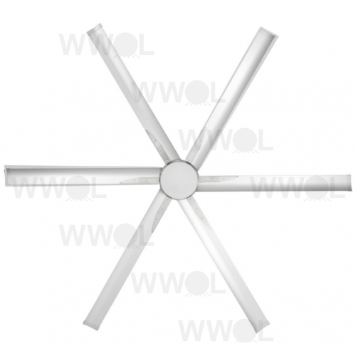 INDUSTRIAL DC 6 BLADE 84 INCH CEILING FAN AND LIGHT INCL