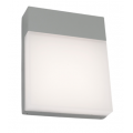 SURFACE MINIMAL LED EXTERIOR SILVER WALL LIGHT