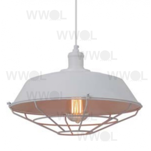 BARN HOUSE WHITE 1 LIGHT PENDANT