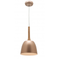 SMALL DOME CHAMPAGNE GOLD INCL TIMBER HIGHLIGHT PENDANT