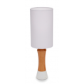 TIMBER DESK LAMP WOOD AND WHITE