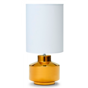 GOLD AND WHITE SHADE 45CM TABLE LAMP