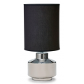 SILVER AND BLACK SHADE 45CM TABLE LAMP