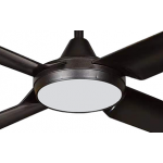 NEW IMAGE DC 132CM FOUR ABS POLYMER BLADE MATT BLACK INCL 18W LED CCT DIMMABLE LIGHT CEILING FAN