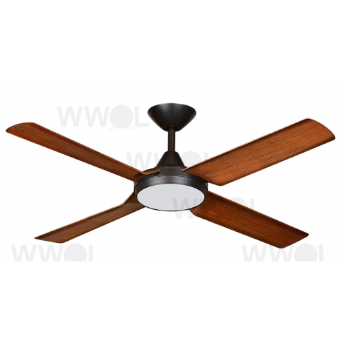 NEW IMAGE DC 132CM FOUR ABS POLYMER BLADE MATT BLACK KOA INCL 18W LED CCT DIMMABLE LIGHT CEILING FAN