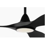 NOOSA THREE BLADE DC 132CM ABS PLASTIC MATT BLACK INCL 5 SPEED REMOTE INCL 18W CCT LED LIGHT CEILING FAN