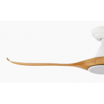 NOOSA THREE BLADE DC 132CM ABS PLASTIC BAMBOO MATT WHITE INCL 18W CCT LED LIGHT INCL 5 SPEED REMOTE CEILING FAN