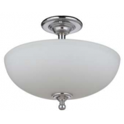 NOVA THREE LIGHT CHROME SEMI FLUSH PENDANT