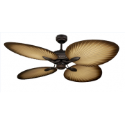 ST TROPEZ II 130CM OILED RUBBED BRONZE TROPICAL PALM BLADE FAN