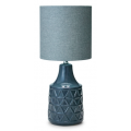 GREY CERAMIC 60CM TABLE LAMP