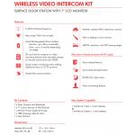 WIRELESS AUDIO VISUAL INTERCOM KIT