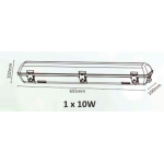 PARSEC 1 X 10 WATT LED WEATHERPROOF BATTEN IP65 6500K