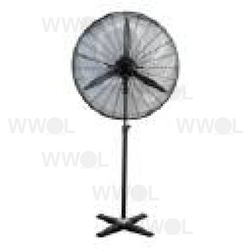 75CM MATT BLACK INDUSTRIAL PEDESTAL FAN
