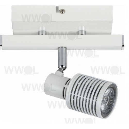 1 LIGHT WHITE 9 WATT LED TRACK LIGHT