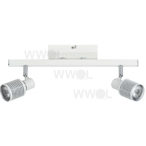 2 LIGHT WHITE 9 WATT LED TRACK LIGHT