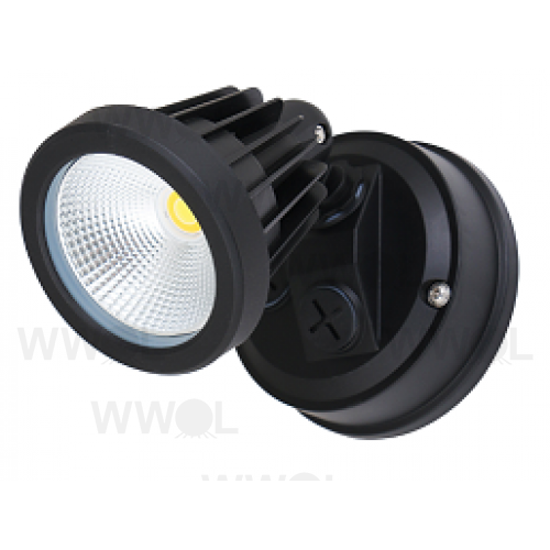 SINGLE POLY CARB 15 WATT TRI COLOUR LED SPOT BLACK