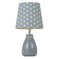 POLKA DOT BLUE/WHITE TABLE LAMP