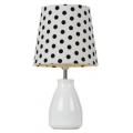 POLKA DOT WHITE/BLACK TABLE LAMP