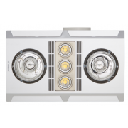 PROFILE PLUS 2 HEAT FAN LED LIGHT SILVER