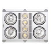 PROFILE PLUS 4 HEAT FAN LED LIGHT SILVER