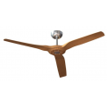 RADICAL DC 60 INCH POLISHED ALUMINIUM WITH BAMBOO BLADES CEILING FAN