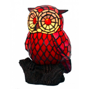 RED OWL LEADLIGHT TABLE LAMP