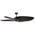 SANTA CRUZ 130CM BLACK TROPICAL PALM BLADE FAN