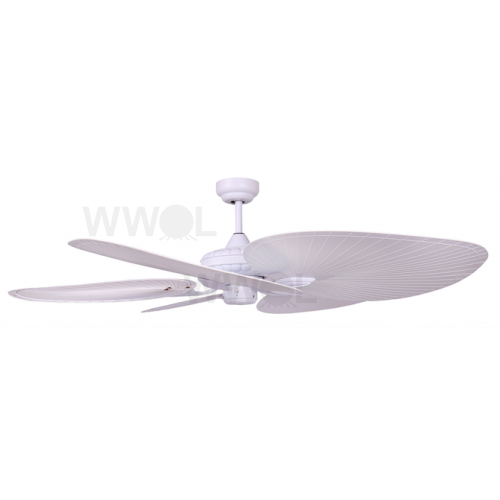 SANTA CRUZ 130CM WHITE TROPICAL PALM BLADE FAN