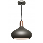 BELL CHARCOAL INCL COPPER HIGHLIGHTS PENDANT