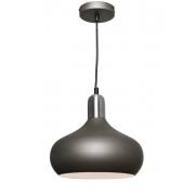 BELL CHARCOAL INCL SATIN CHROME HIGHLIGHTS PENDANT