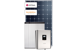 6.6KW DUAL MPPT PV HYBRID INCL WIFI INCL 6.5KW LG CHEM BATTERY SOLAR SYSTEM